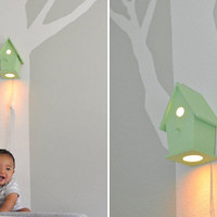 Avery Modern Birdhouse Wall Lamp