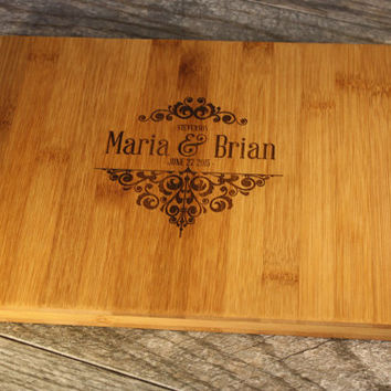 Personalized Cutting Board - Perfect Wedding Gift, Engagement Gift, Anniversary Gift, or Gift for yourself!