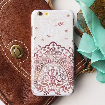 Brown Bohemian iPhone 6S case iPhone 6 case iPhone 6S Plus case iPhone 6 Plus case  iPhone 5S case iPhone 5 5C case iPhone 4 4S case