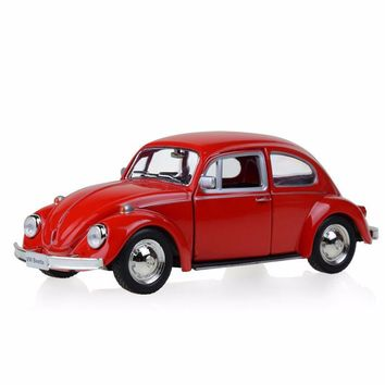 Diecast Model Car Red 1/32 Scale Volkswagen Beetle 1967 Classic Car Pull Back Toys Collection Hobbies Model Toy Kids Gift