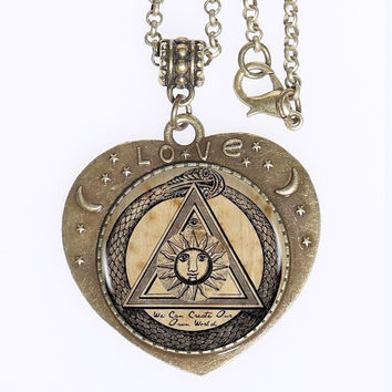 Ouroboros Sacred Geometry Necklace - FREE SHIPPING