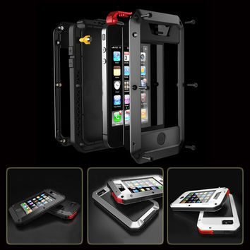 Waterproof Shockproof Aluminum Gorilla Metal Cover Case For Apple iPhone Models 4 4s 5 5s SE 6 6s 6/6s plus