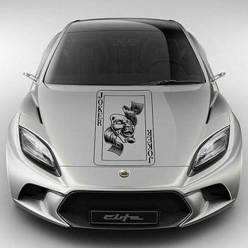 joker car hood decal joker Auto side sticker joker Vinyl Design Racing Truck Van kikcar106