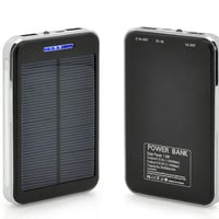 20000mAh Solar Power Phone Charger - 3.7v, Solar Battery Bank, 2x USB Output Ports, Backup USB Charging