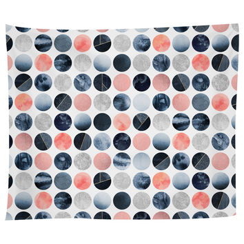 Blue and Pink Dots Tapestry