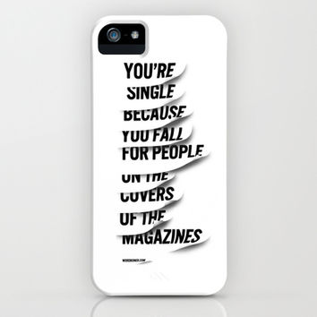 Single iPhone & iPod Case by WRDBNR