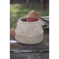 Wolk Woven Cement Pot Planter