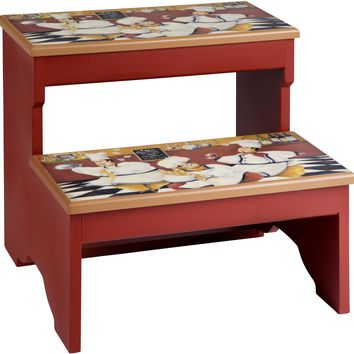 Chefs in the Kitchen 2 Step Decorative Wood Step Stool