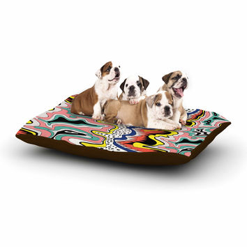 "DLKG Design ""Modern Expression"" Abstract Illustraion Dog Bed"
