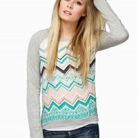 JOLT CHEVRON PRINT TOP