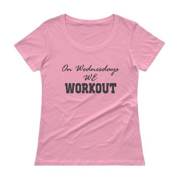 On Wednesdays We Workout Pink Women's tee Top