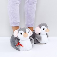 ASOS NIPPY Penguin Slippers at asos.com