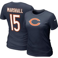 Nike Women's Chicago Bears Brandon Marshall #15 Navy T-Shirt - Dick's Sporting Goods