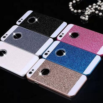 Fashion sparkling pink phone case for iphone 5 5s SE 6 6s 6 plus 6s plus + Nice gift box 080901