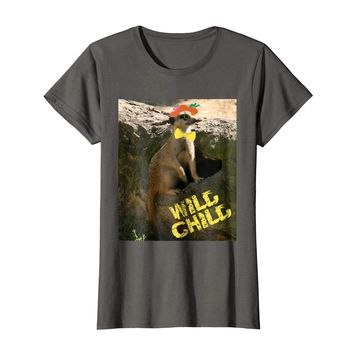 Wild Child Party Animal Meerkat with Bowtie and Hat T-Shirt