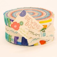 100% Cotton Jelly Roll Fabric Sewing Box by Gina Martin for Moda