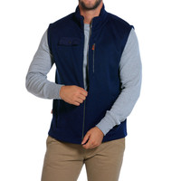 Lincoln Fleece Vest in Navy by The Normal Brand - FINAL SALE