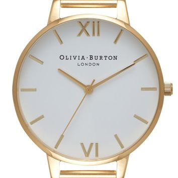 Olivia Burton 'Big Dial' Mesh Strap Watch, 38mm | Nordstrom