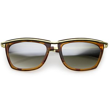 True Vintage Dapper Narrow Metal Trim Cat Eye Sunglasses C679