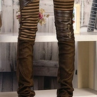 High quality PU leather jeans for women   fashion Casual pants feet Denim jeans for woman pencil pants big size black