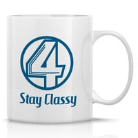 Anchorman Coffee Mug - Channel 4 News - Ron Burgundy - Will Ferrell, 11oz Porcelain Mug