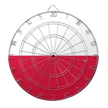 Dartboard with Flag of Poland