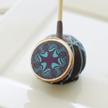 Teal Plum Rainbow Cross Cake Pops