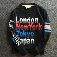 ONETOW Superdry Fashion Print Top Sweater Pullover