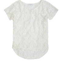 Floral Lace Short-Sleeve