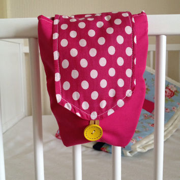 cot pocket~ crib pocket~ cot tidy~ crib tidy~ crib~ cot bottle bag~ crib bottle bag~ bottle holder~ bike handlebar bag~ pram bottle bag
