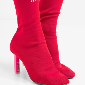 Vetements - Stretch-knit sock boots