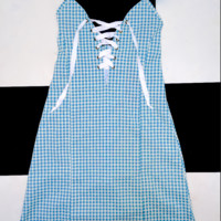 SWEET LORD O'MIGHTY! THE XTINA DRESS IN GINGHAM BLUE