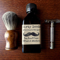 Men's Aftershave/Cologne Bay Rum and Lime by DirtyDeedsSoaps