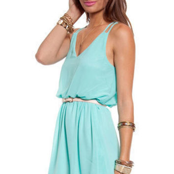 Square One Tank Dress II in Mint :: tobi