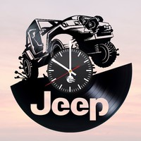 JEEP Vinyl Record Clock