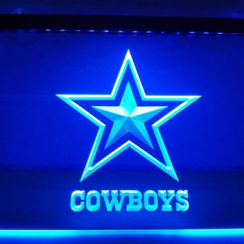 LD039- Dallas Cowboys NR Super Bowl LED Neon Light Sign