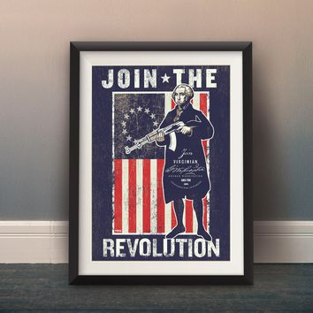 George Washington Revolutionary Propaganda Poster