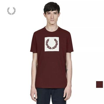 DCCK counters the same American genuine Fred Perry Mai Sui FP Men's British Tide M2525 slim cotton short sleeve T-shirt Red