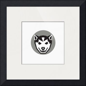 """Baby Wolf Cub Head Circle Retro"" by Aloysius Patrimonio"