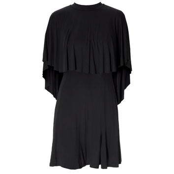 Cape Mini Dress, Black