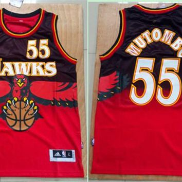 Best Deal Online NBA Basketball Jerseys Atlanta Hawks #55 Dikembe Mutombo