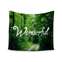 "Chlesea Victoria ""Wonderful"" Green Nature Wall Tapestry"