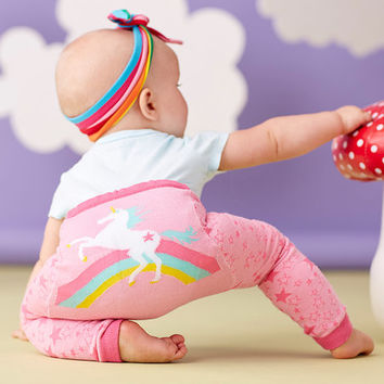 Doodle Pants Pink Rainbow Unicorn Leggings - Infant