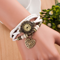 Retro Love Double Arrow Bracelet Watch