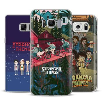 Stranger Things Coque Phone Case Cover Shell For Samsung Galaxy S4 S5 S6 S7 Edge S8 s9 Plus Note 8 2 3 4 5 A5 A7 J5 2016 J7 2017