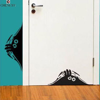 Creative Cartoon Funny Wall Stickers For Kids Peeking Monster Removable Kids Room Vinyl Decal Home Decoration Door Stickers