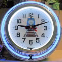 "Thomas The Train 14"" Neon Wall Clock"