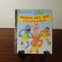 """Vintage 1995 Sesame Street's """"Ready, Set, Go! A Counting Book"""" - A little Golden Book / Kids Book / Great Condition / Sesame Street Muppets"""