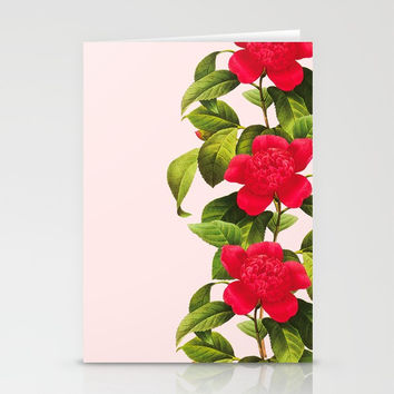 Botanical Light Kiss Stationery Cards by cadinera
