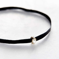 Only Love Leather + Stone Choker Necklace - Urban Outfitters